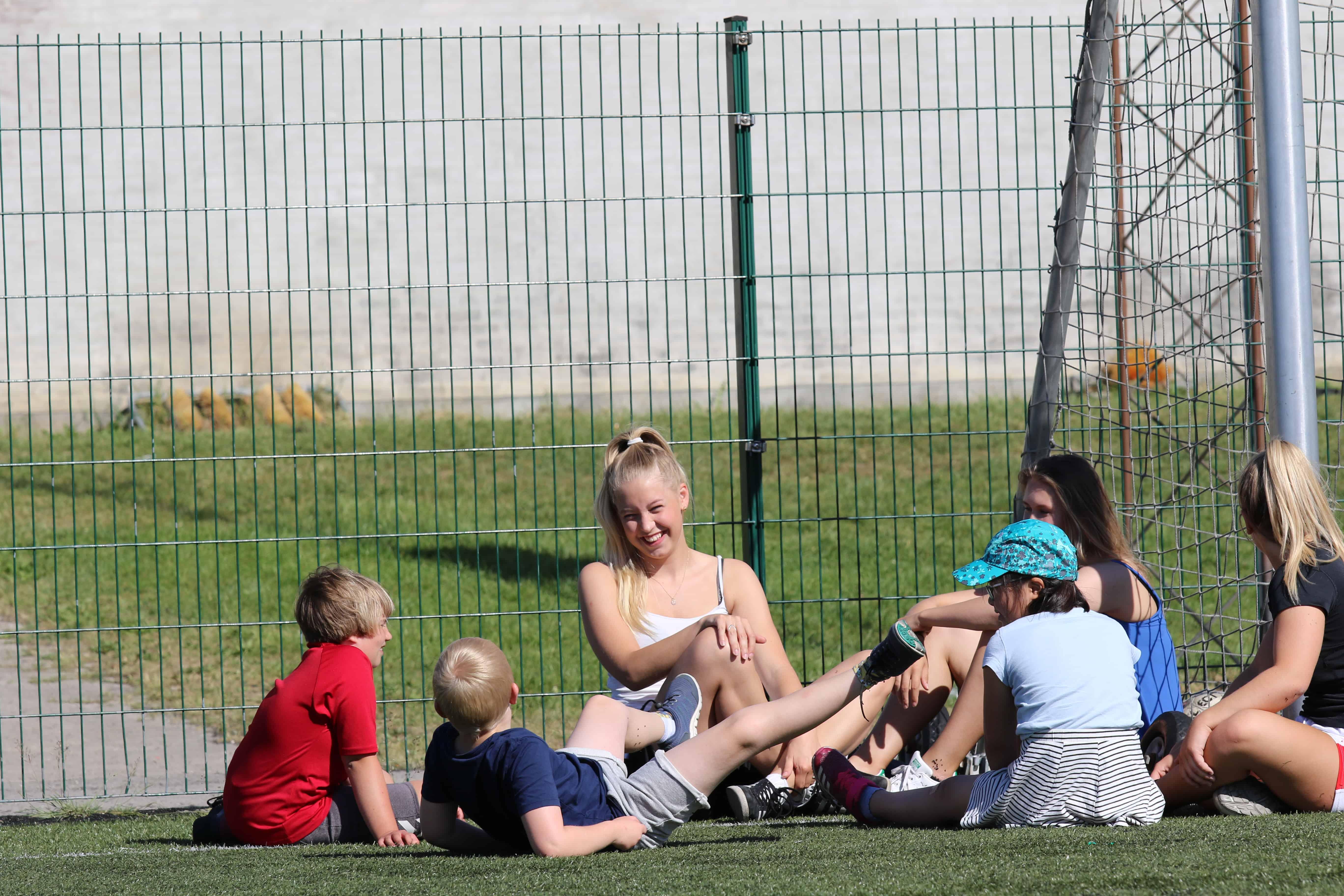 Fodbold udendørs pause