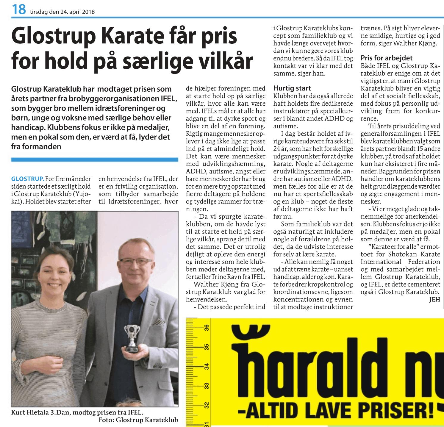 folkebladet karate artikel 2018 1